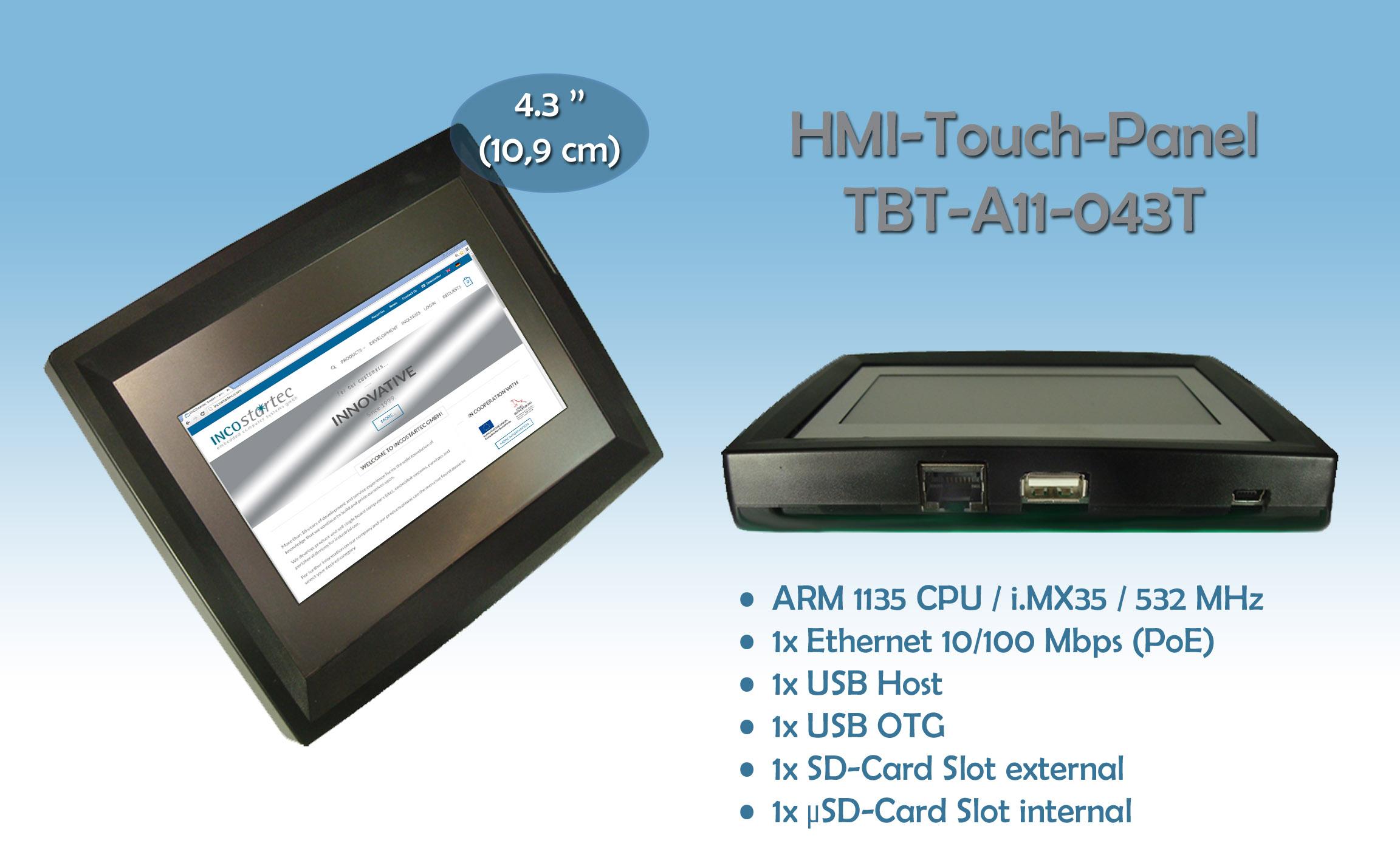 HMI - 4,3'' Touch Panel PC