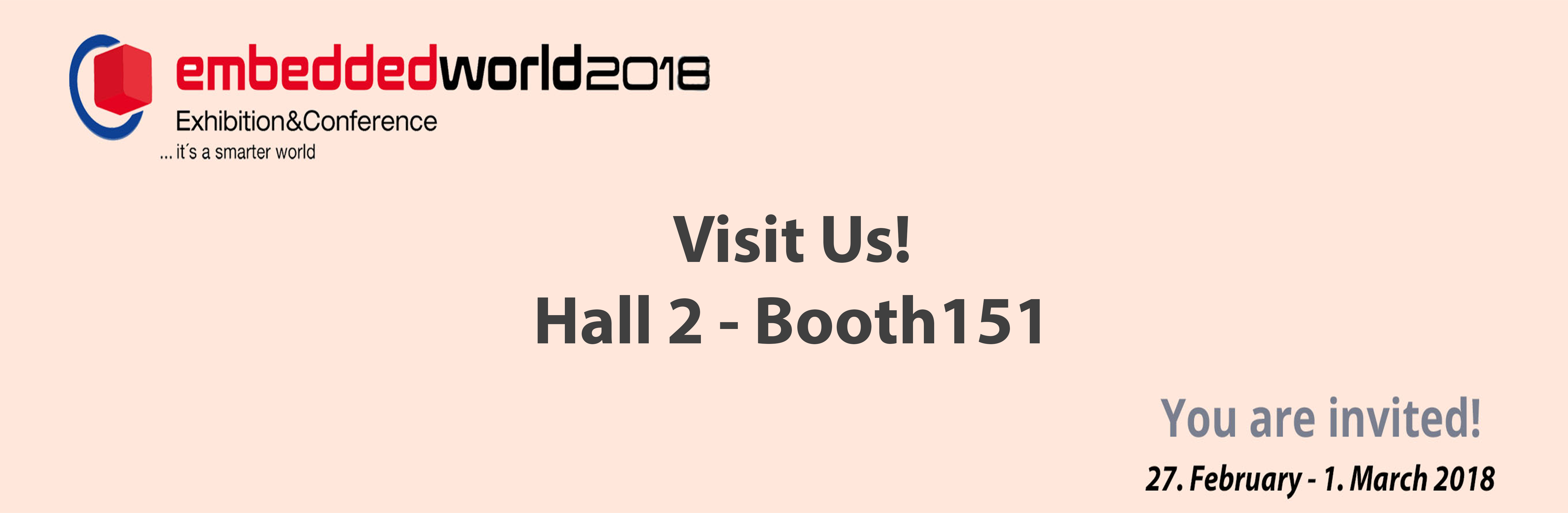 Visit us - Hall 2 / Stand 151